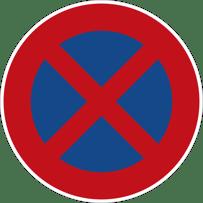 Absolutes Halteverbot Verkehrszeichen 283