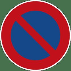 Eingeschraenktes Halteverbot Verkehrszeichen 286