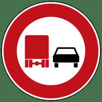 Überholverbot für Kraftfahrzeuge über 3,5 t Zeichen 277
