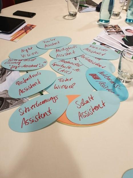 Brainstorming Workshop Verbandsmeeting des Bundesverbandes Fuhrparkmanagement