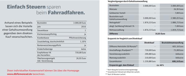 Beispiel DB Dienstfahrradleasing