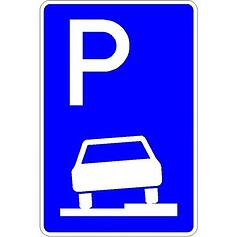 Parken auf dem Gehweg Zeichen 315