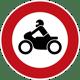 Verbot für Krafträder_Zeichen Nr. 255-1