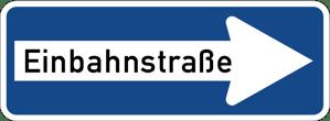 Zeichen 220-20 Einbahnstraße rechtsweisend
