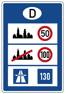 Zeichen 393b Informationstafel an Grenzübergängen, StVO 1981