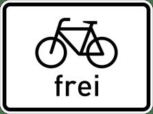 Zusatzzeichen 1022-10 Radfahrer frei