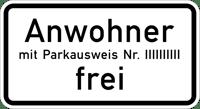 Zusatzzeichen_1020-32_Anwohner_mit_Parkausweis_Nr._..._frei