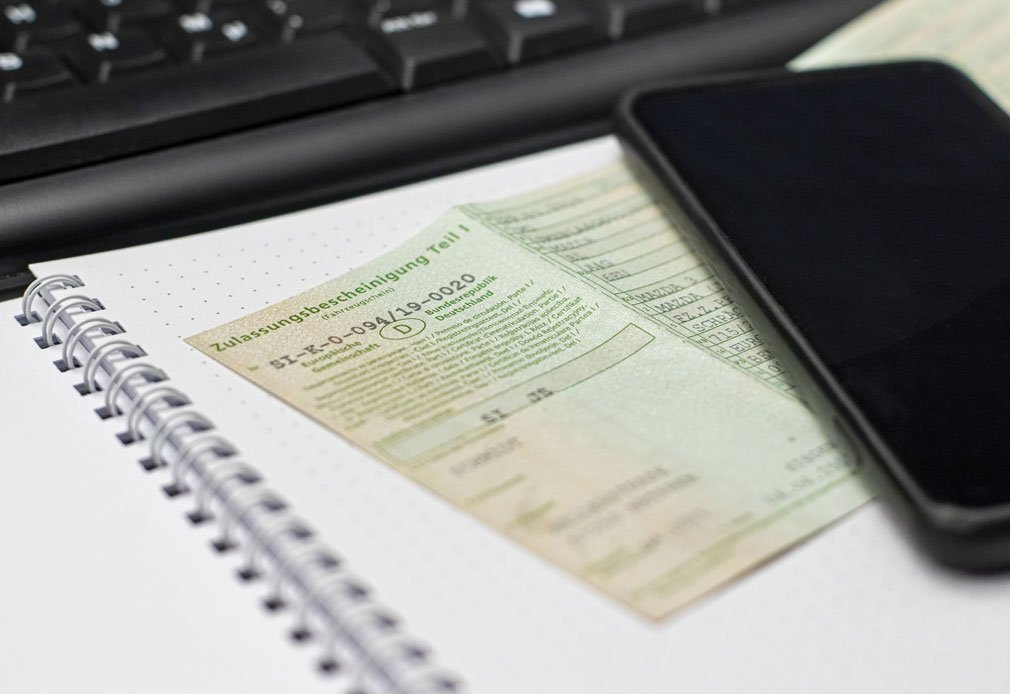 Zulassungsbescheinigung Teil 1 Fahrzeugschein