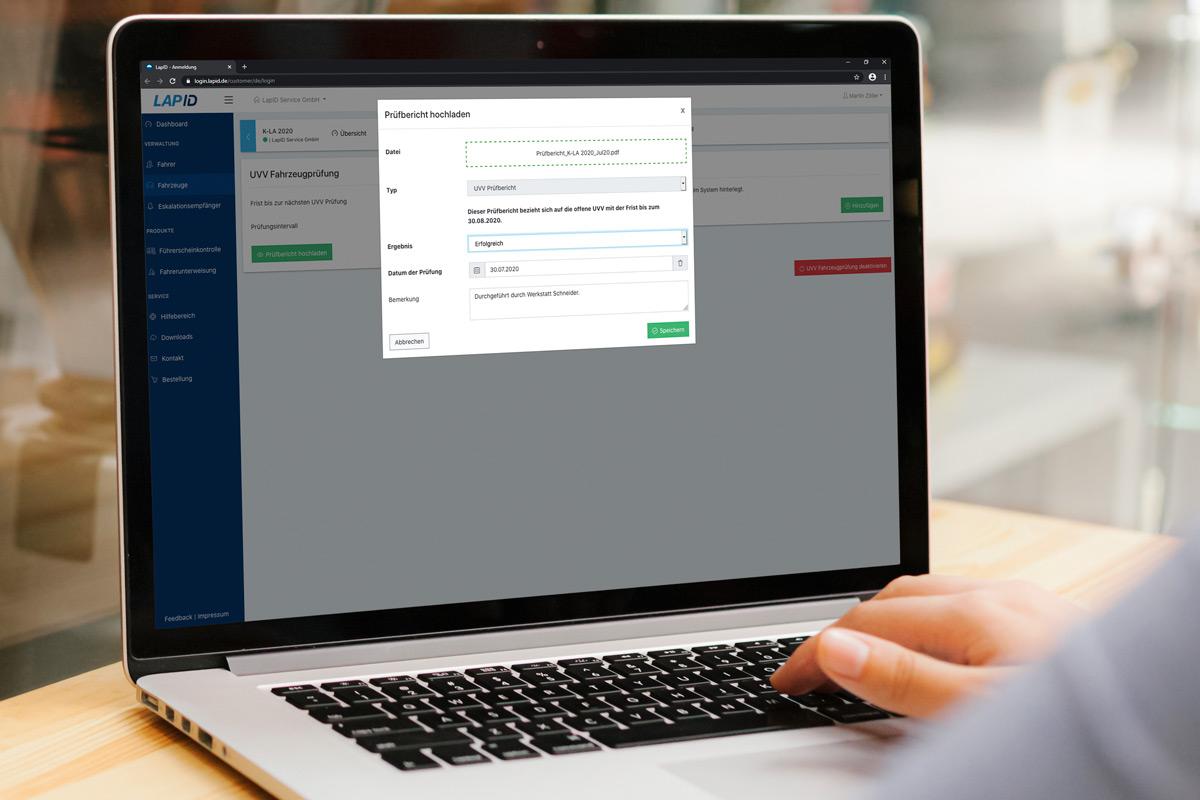 LapID Fahrzeugprüfung: Digitale Verwaltung von UVV-Fristen und Dokumenten