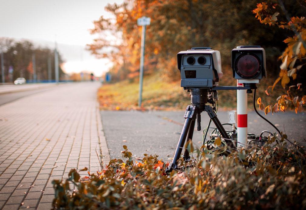 Radarkontrolle-Blitzerfoto