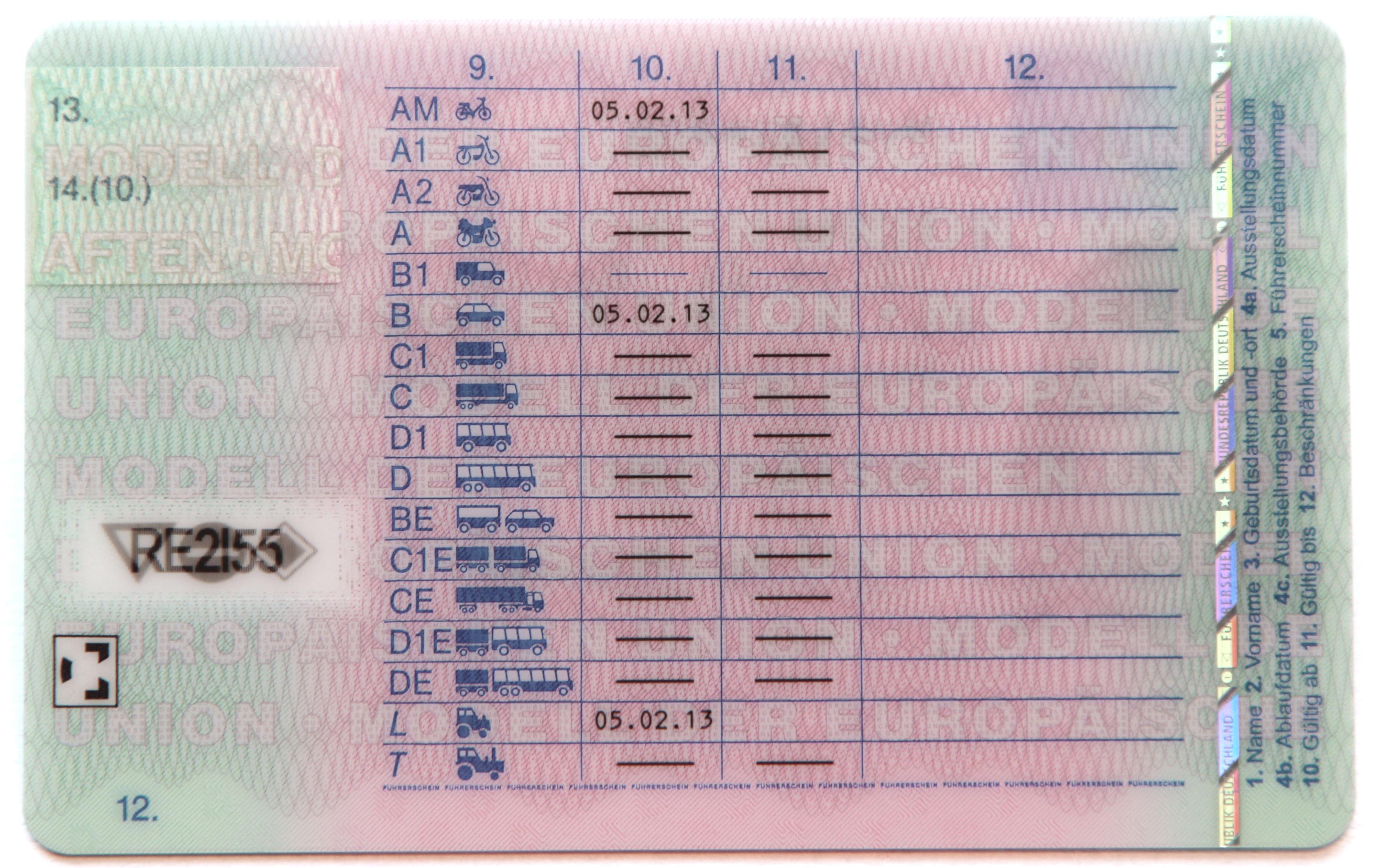 Schlüsselzahl 70: Umschreiben ausländischer in deutsche Führerscheine